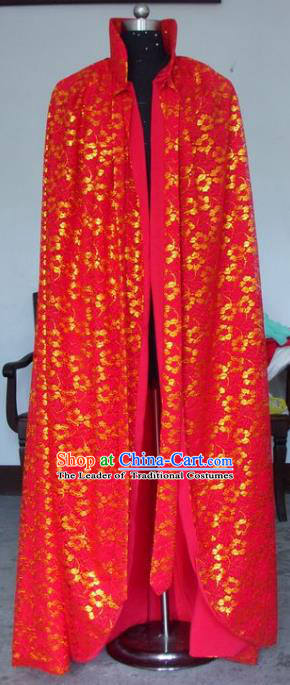 Chinese Traditional Beijing Opera Actress Red Cloak China Peking Opera Princess Costumes for Adults