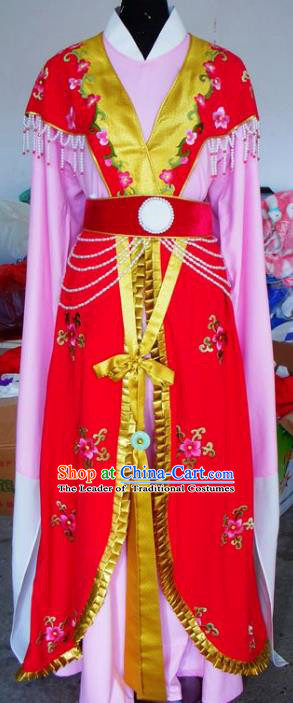 Chinese Traditional Beijing Opera Actress Embroidered Red Dress China Peking Opera Imperial Concubine Costumes for Adults