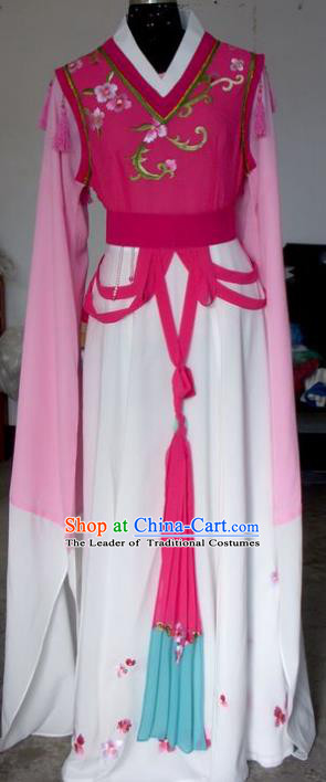 Chinese Traditional Beijing Opera Actress Embroidered Rosy Dress China Peking Opera Imperial Concubine Costumes for Adults