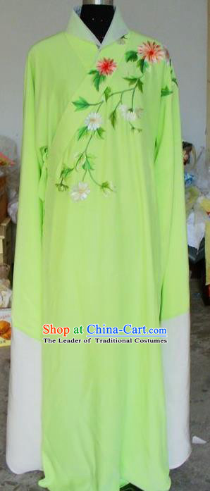 Chinese Traditional Shaoxing Opera Scholar Green Robe Peking Opera Niche Embroidered Costumes for Adults