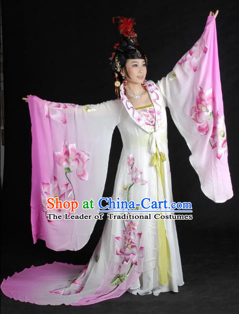 Traditional Chinese Beijing Opera Imperial Concubine Pink Dress China Peking Opera Diva Embroidered Costumes for Adults