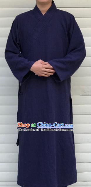 Chinese Traditional Martial Arts Taoist Nun Costumes Tai Chi Kung Fu Navy Priest Frock for Women