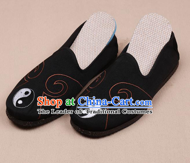 Chinese Traditional Martial Arts Shoes Taoist Black Shoes Tai Chi Shoes for Men