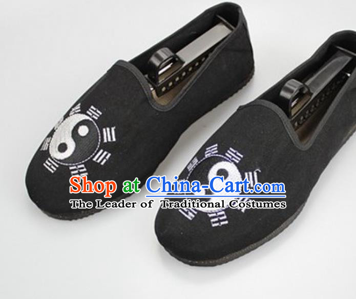 Chinese Traditional Martial Arts Shoes Taoist Shoes Tai Chi Black Shoes for Men