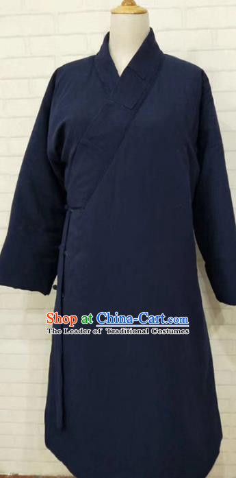 Chinese Traditional Martial Arts Costume Kung Fu Tang Suit Cotton-padded Robe for Men