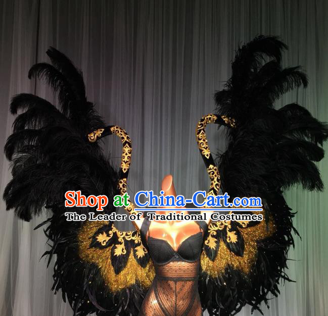 Top Grade Stage Performance Brazilian Carnival Feather Wings Miami Feathers Deluxe Wings for Women