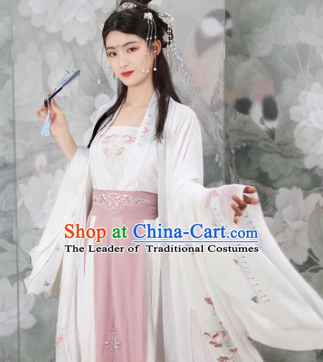 Chinese Traditional Song Dynasty Princess Costumes Ancient Nobility Lady Hanfu Dress for Women