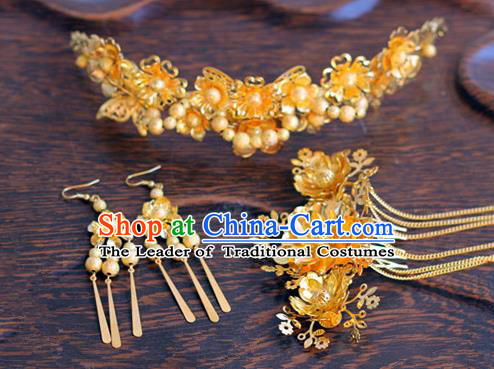 Chinese Traditional Hair Accessories Ancient Hanfu Butterfly Hair Comb Hairpin for Women