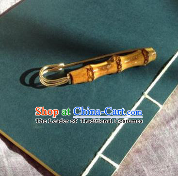 Chinese Traditional Jewelry Accessories Ancient Hanfu Bamboo Brooch for Women