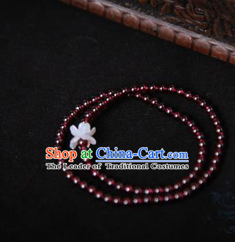 Chinese Traditional Jewelry Accessories Ancient Palace Hanfu Garnet Bracelet for Women