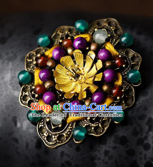 Chinese Traditional Jewelry Accessories Ancient Palace Hanfu Brooch for Women