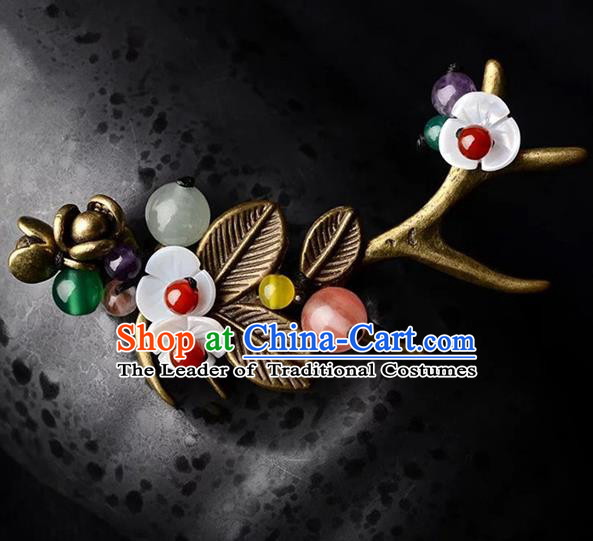 Chinese Traditional Jewelry Accessories Ancient Palace Hanfu Shell Brooch for Women