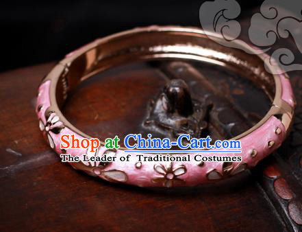 Chinese Traditional Jewelry Accessories Ancient Palace Hanfu Cloisonne Bracelet for Women