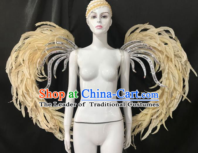 Top Grade Brazilian Carnival Feather Wings Miami Feathers Deluxe Wings for Women