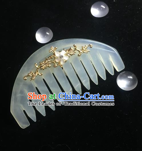 Chinese Traditional Hair Accessories Ancient Hanfu Jade Hair Comb Hairpins for Women