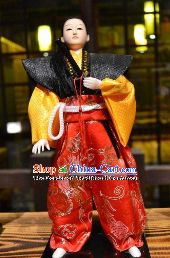 Japanese Classical Broad Shoulders Authentic Samurai Outfit Clothing Complete Set for Men