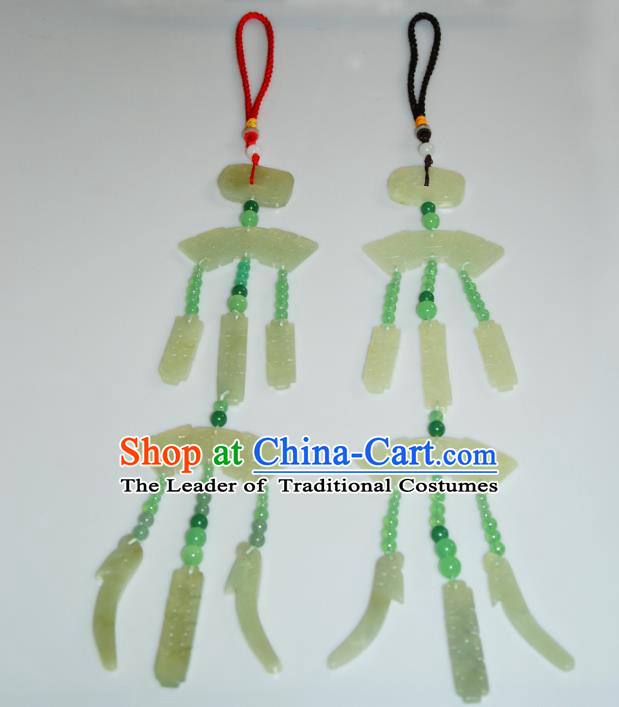 Traditional Chinese Ancient Princess Waist Accessories Hanfu Jade Pendant for Women