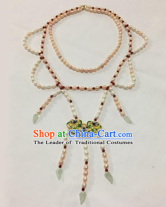 Traditional Chinese Ancient Princess Jewelry Accessories Hanfu Conophytum Pucillum Necklace for Women