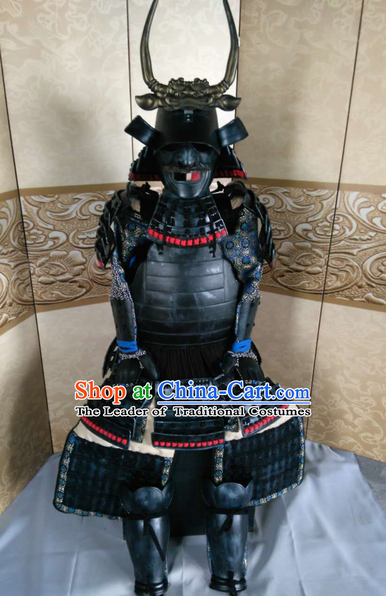 Ancient Asian Classical Japanese Samurai Armor Buy Replica Authentic Samurai Outfit Clothes Complete Set for Men for Sale
