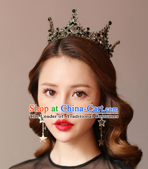 Top Grade Wedding Bride Hair Accessories Baroque Princess Crystal Royal Crown for Women
