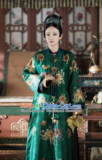 Story of Yanxi Palace Chinese Ancient Drama Qing Dynasty Imperial Consort Costumes and Headpiece Complete Set