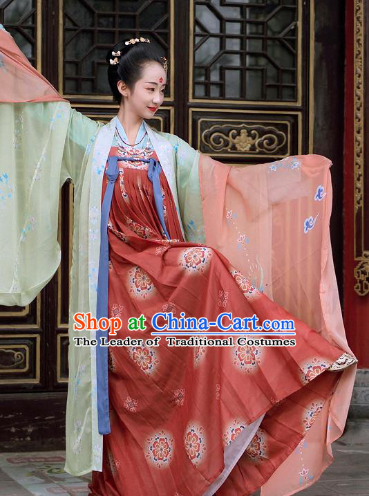 0dec6cad3020 Chinese Tang Dynasty Imperial Concubine Costume Ancient Fairy Hanfu Dress  for Women
