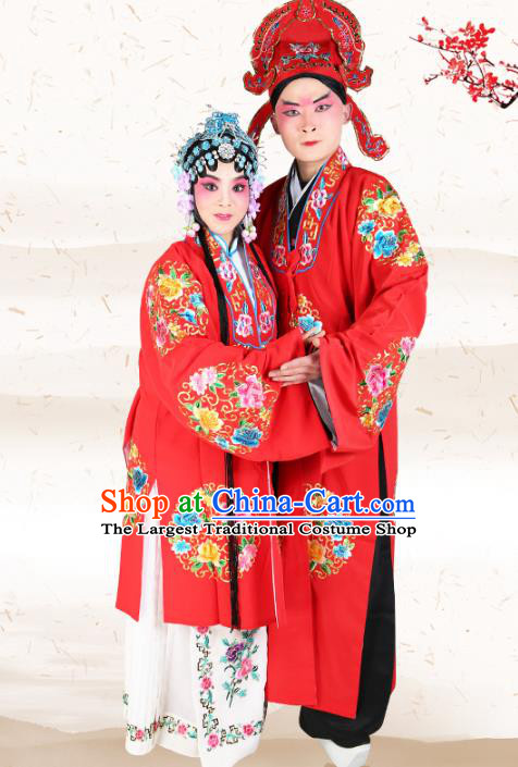 Professional Chinese Beijing Opera Wedding Costumes Peking Opera Gifted Scholar and Diva Robes for Adults