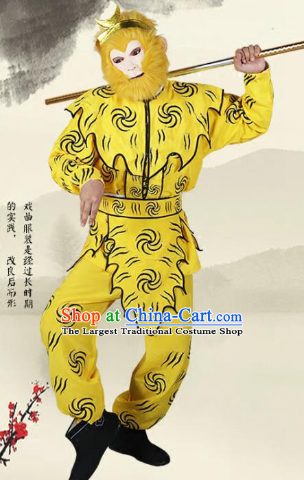 Professional Chinese Peking Opera Handsome Monkey King Costume Traditional Takefu Clothing for Adults