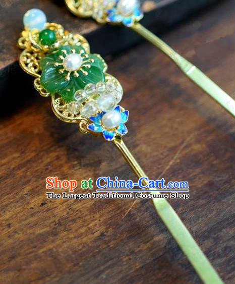 Chinese Handmade Ancient Hair Accessories Ancient Hanfu Cloisonne Hairpins for Women