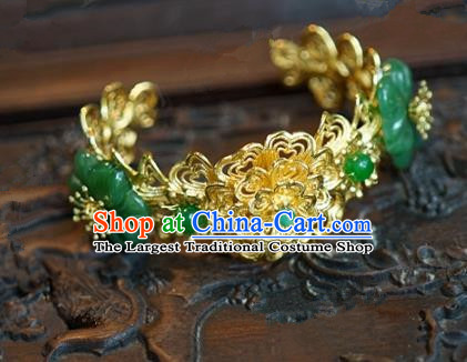 Top Grade Chinese Handmade Jewelry Accessories Ancient Palace Lady Hanfu Jade Bracelet for Women