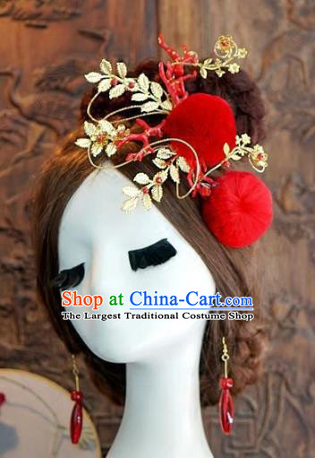 Chinese Handmade Wedding Hair Clip Hair Accessories Ancient Hairpins Complete Set for Women
