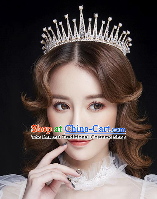 Handmade Bride Crystal Royal Crown Wedding Hair Jewelry Accessories for Women