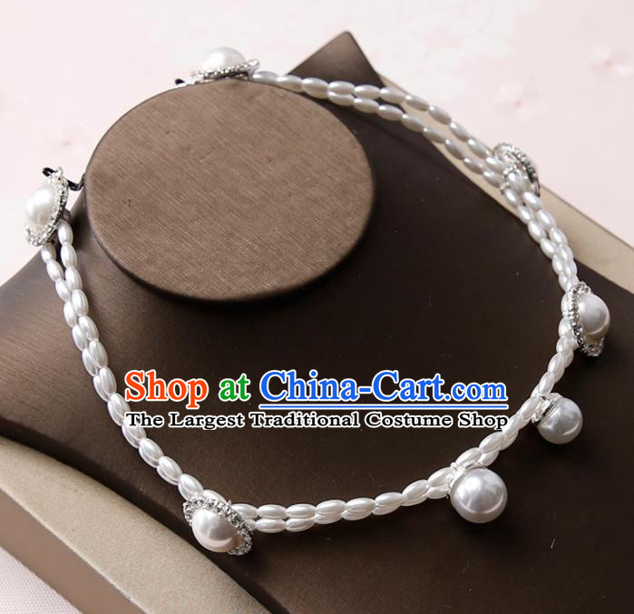 Top Grade Handmade Jewelry Accessories Bride Pearls Necklace for Women