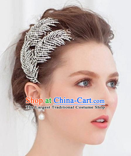 Handmade Baroque Bride Crystal Hair Comb Wedding Hair Jewelry Accessories for Women