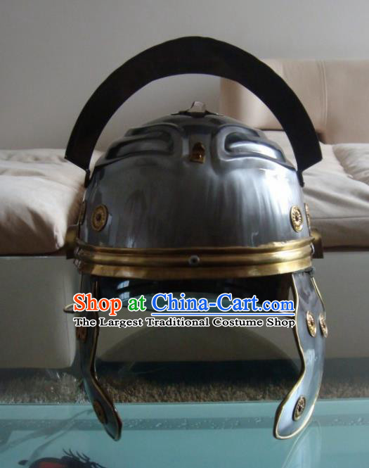 Ancient Cosplay Roman General Helmet Hat for Men