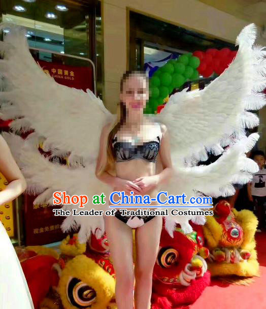 Top Grade Catwalks Prop Miami Deluxe Feather Wings Model Show Customized Wings for Women