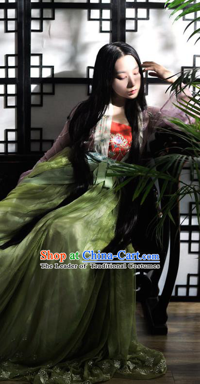 Traditional Chinese Ancient Nobility Lady Costume Song Dynasty Palace Lady Hanfu Dress for Women