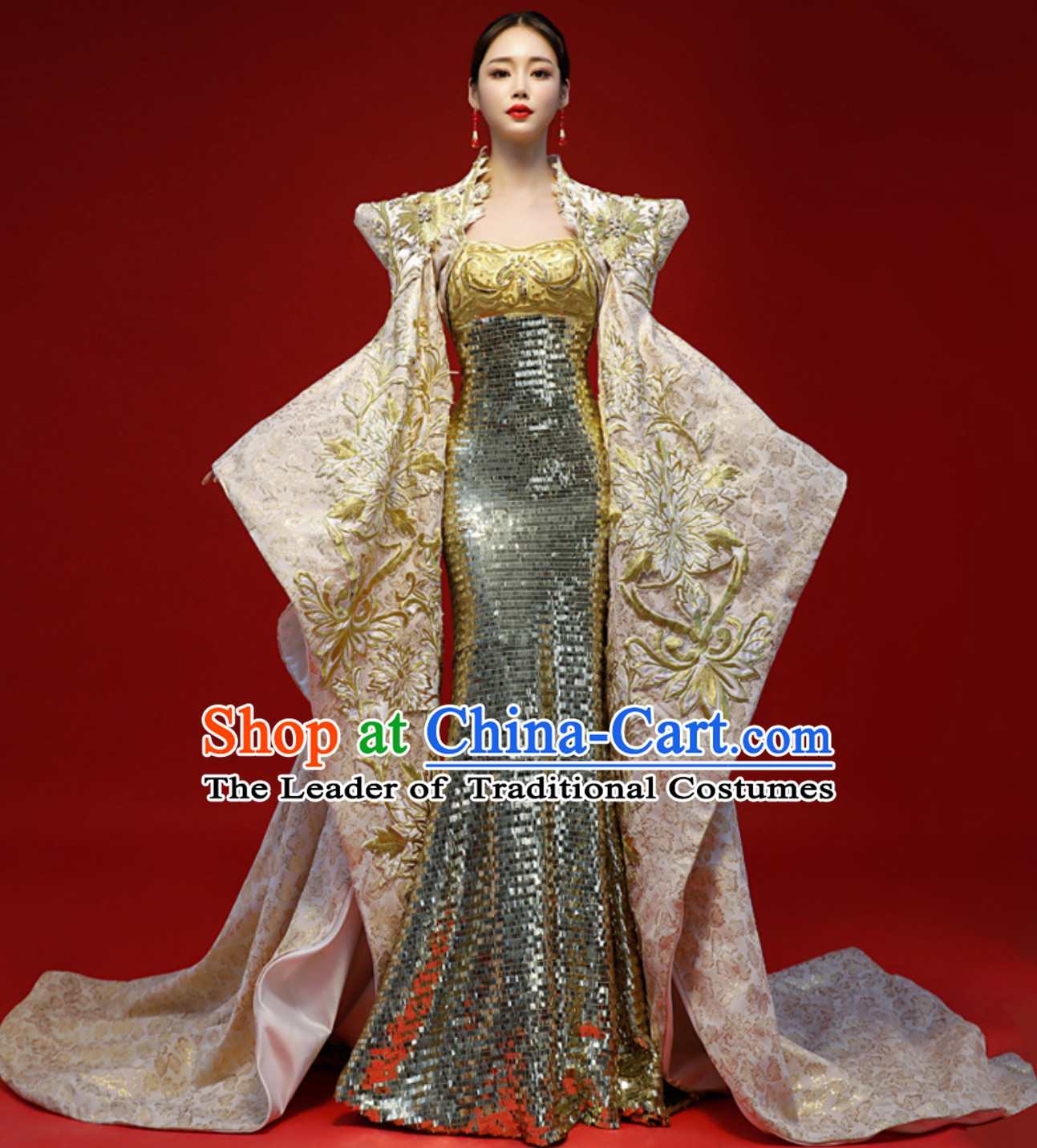 b30933e5f Asian Chinese Classical Empress Style Evening Dress