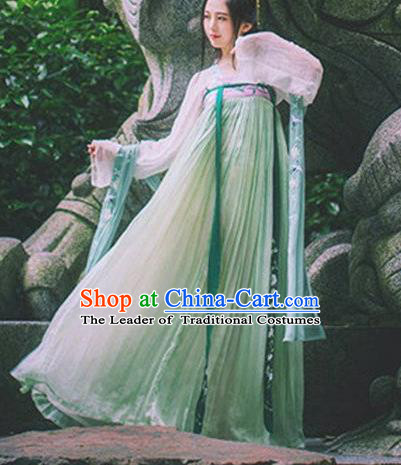 Chinese Ancient Drama Palace Princess Embroidered Hanfu Dress Tang Dynasty Nobility Lady Costume for Women