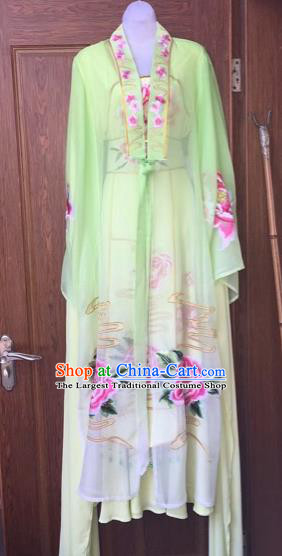 Chinese Traditional Peking Opera Nobility Lady Green Dress Beijing Opera Diva Costumes for Adults