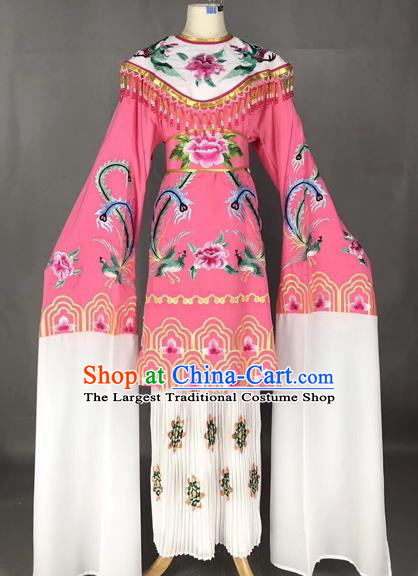 Chinese Traditional Peking Opera Imperial Consort Dress Beijing Opera Diva Embroidered Phoenix Costumes for Adults