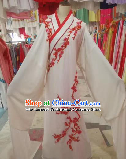 Chinese Traditional Beijing Opera Scholar Clothing Peking Opera Niche White Robe for Adults
