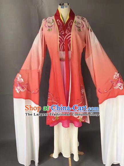 Chinese Ancient Peking Opera Palace Lady Red Dress Traditional Beijing Opera Diva Costumes for Adults