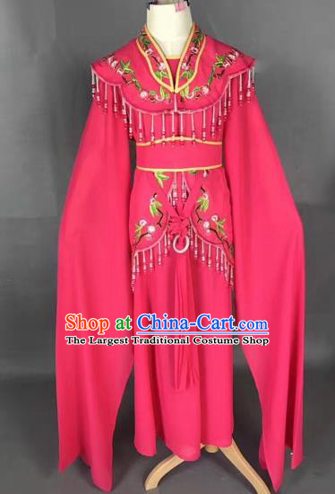 Chinese Ancient Peking Opera Children Rosy Dress Traditional Beijing Opera Diva Costumes for Kids
