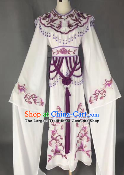 Traditional Chinese Peking Opera Diva Costume Beijing Opera Purple Embroidered Dress for Adults