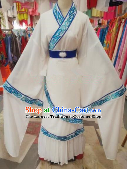 Chinese Traditional Beijing Opera White Costume Peking Opera Niche Clothing for Adults
