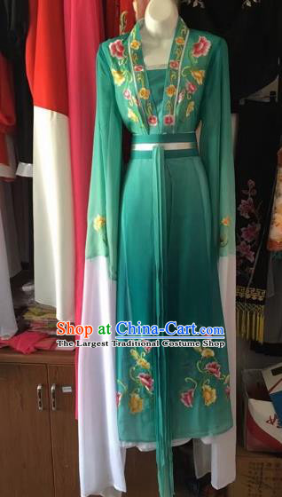 Chinese Peking Opera Princess Fairy Green Dress Traditional Beijing Opera Diva Costume for Adults