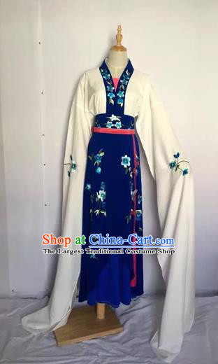 Chinese Huangmei Opera Fairy Blue Dress Traditional Beijing Opera Diva Costume for Adults