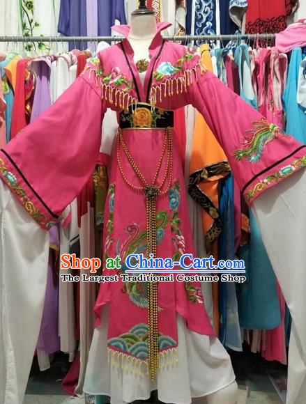 Chinese Traditional Peking Opera Actress Embroidered Dress Ancient Imperial Empress Costume for Adults