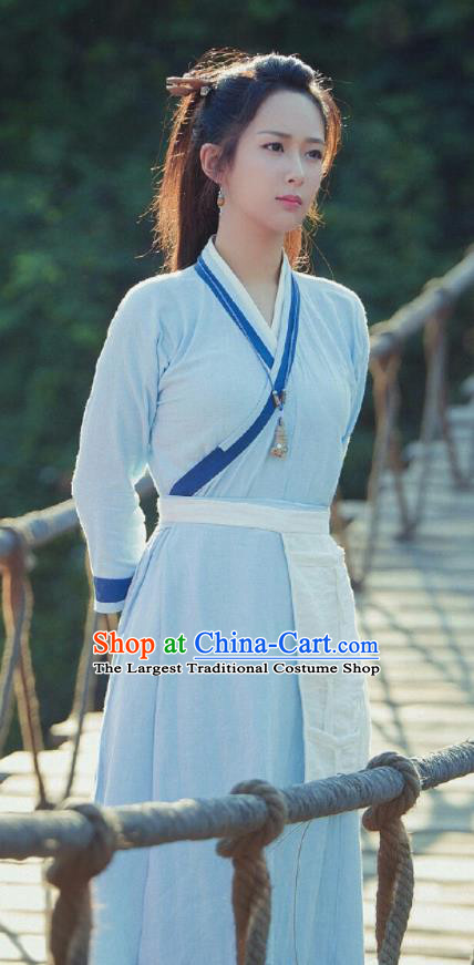 Chinese Ancient Swordswoman Clothing Drama The Honey Sank Like Frost Heroine Costume for Women